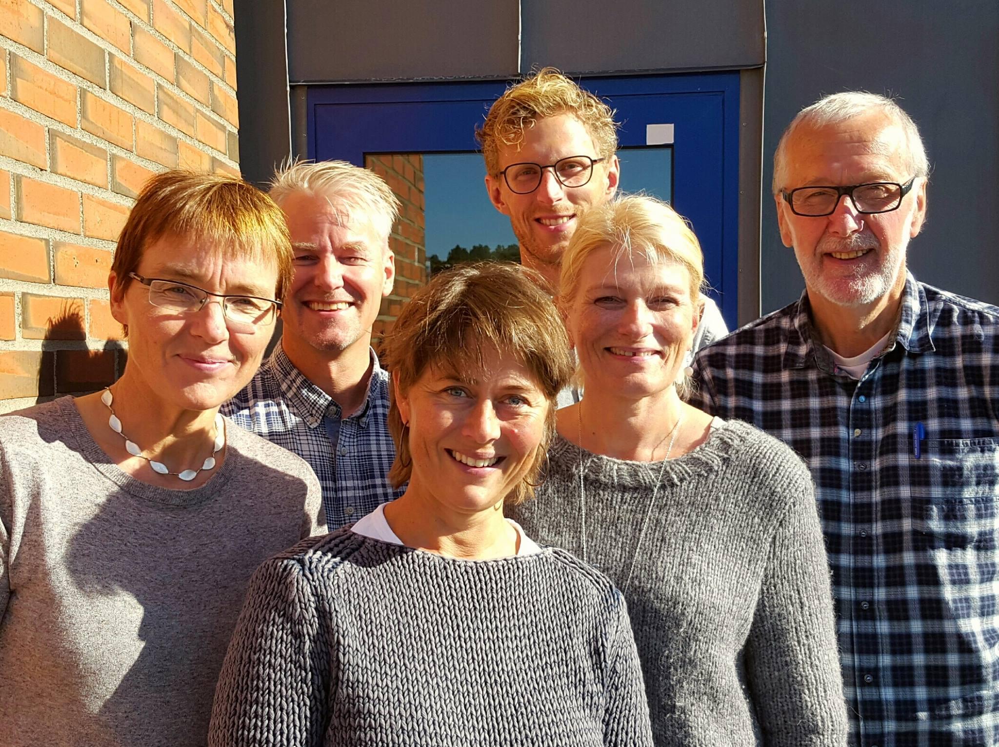 NSDM sitt team høsten 2016 fra øverst til venstre: Frank Remman, Martin Harbitz og Ivar J. Aaraas. Fra nederst til venstre: Margrethe Gaski, Helen Brandstorp og Birgit Abelsen.