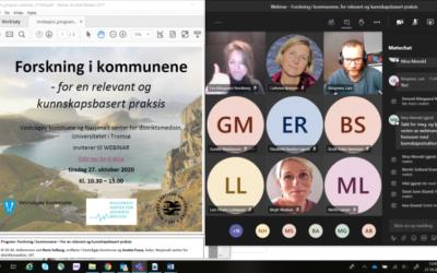 «Forskning i kommunene – for en relevant og kunnskapsbasert praksis» webinar 27 oktober.